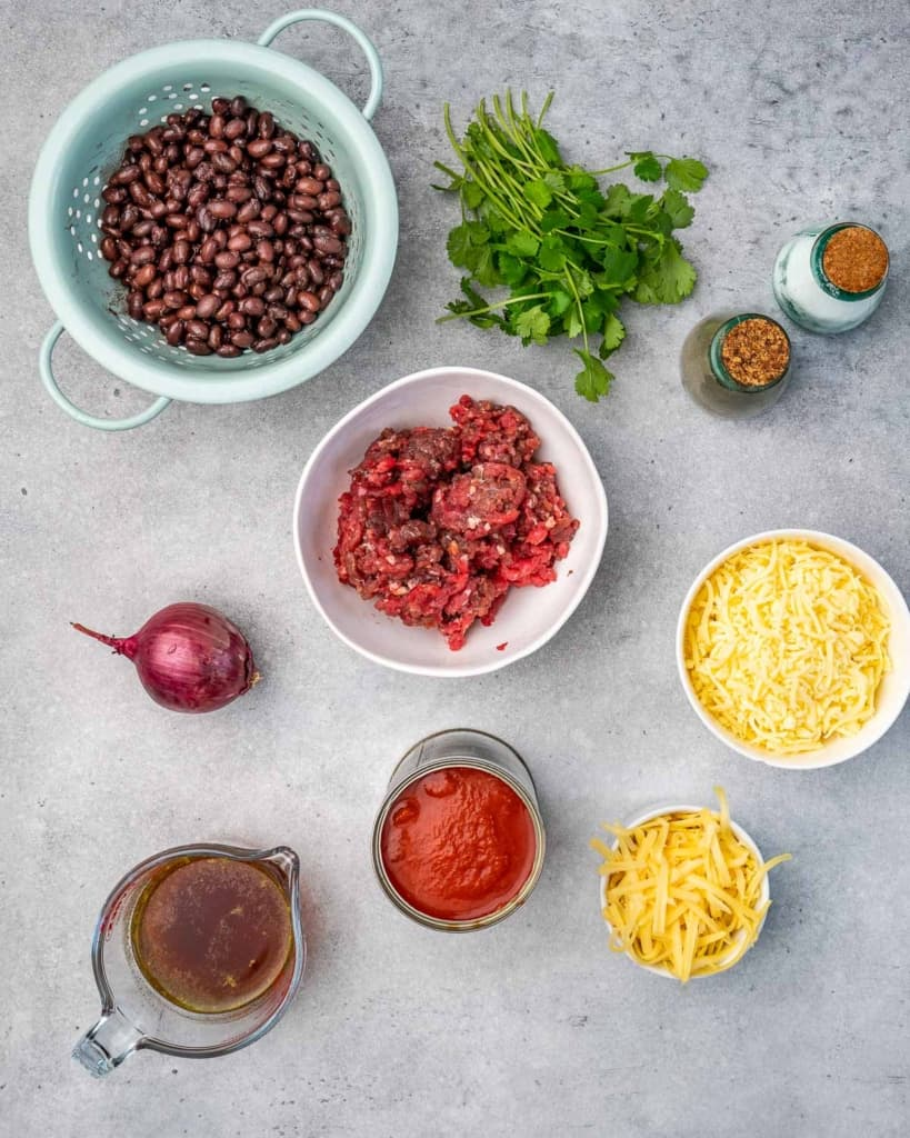 ingredients to make the cowboy queso dip