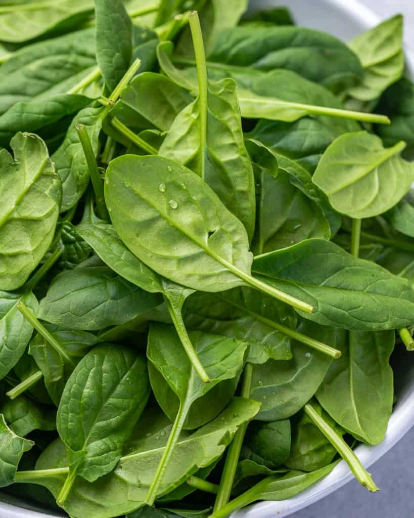 loose spinach for salad