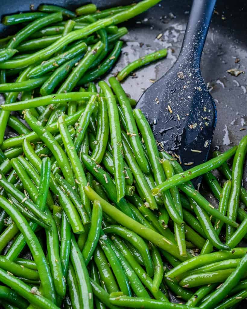One pot of green beans