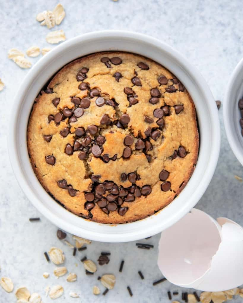 Tiktok Viral Chocolate Chip Baked Oats Healthy Fitness Meals