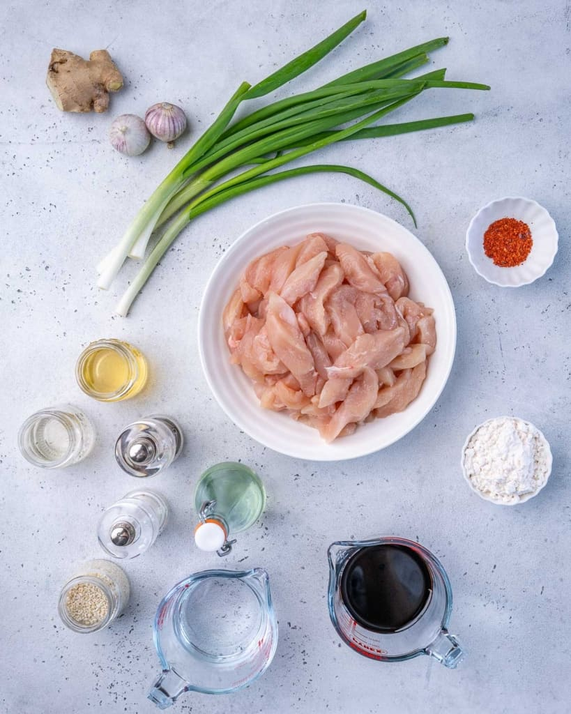 ingredients to make mongolian chicken