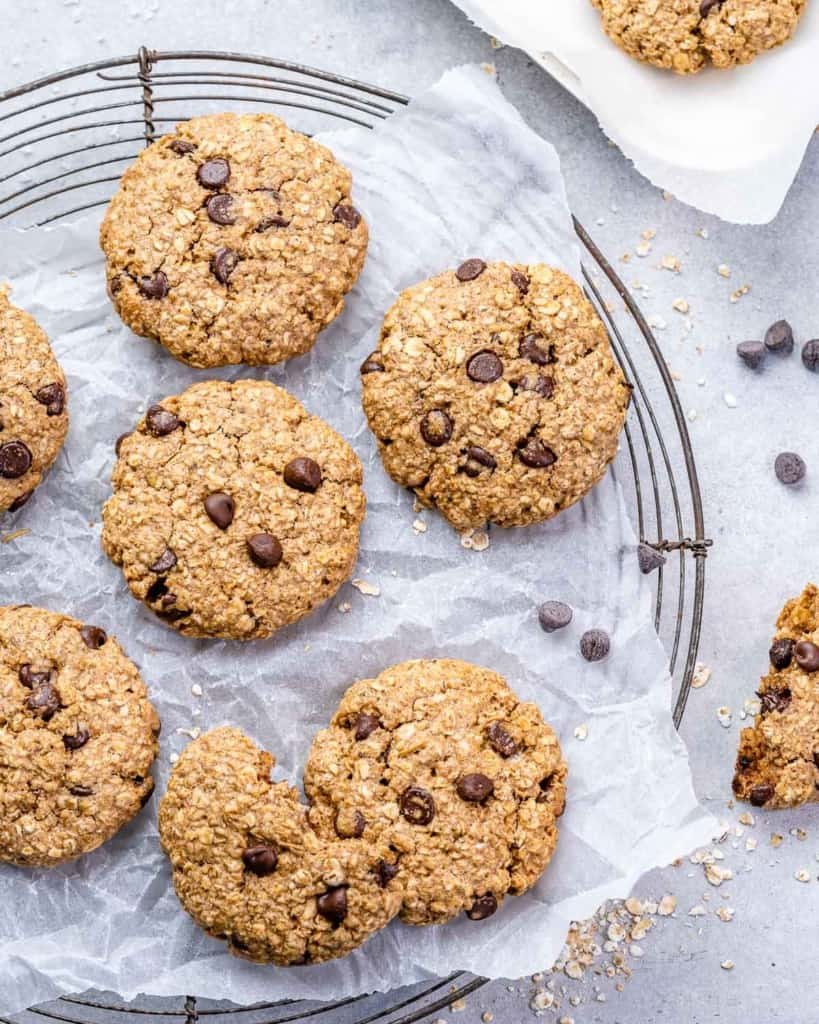 top view oatmeal cookies