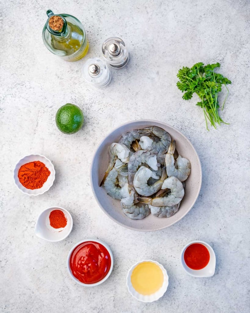 ingredients to make bbq shrimp