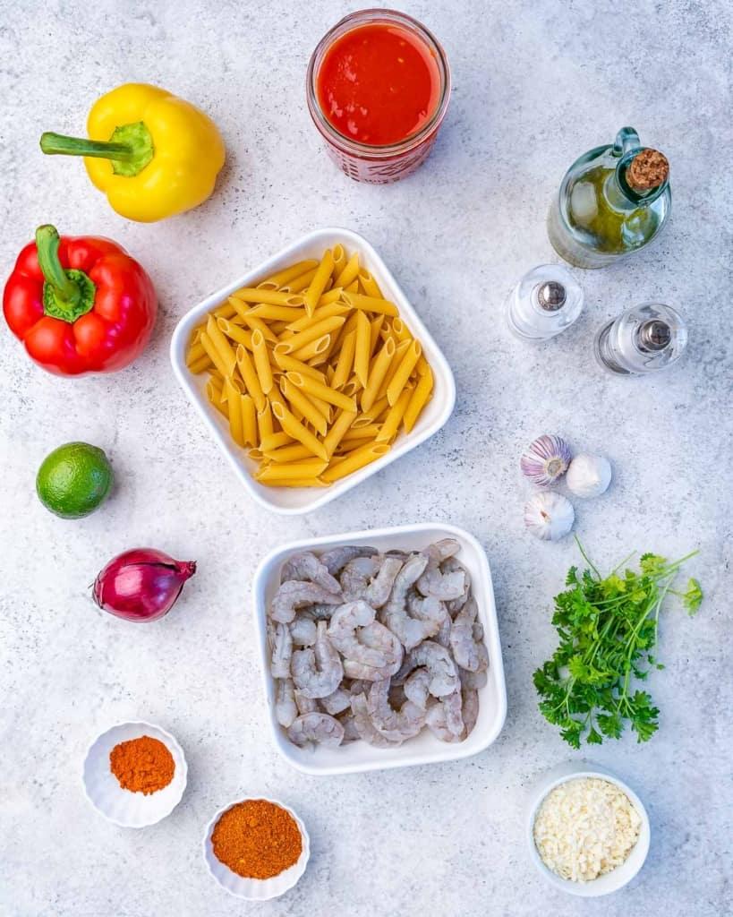 ingredients to make cajun shrimp