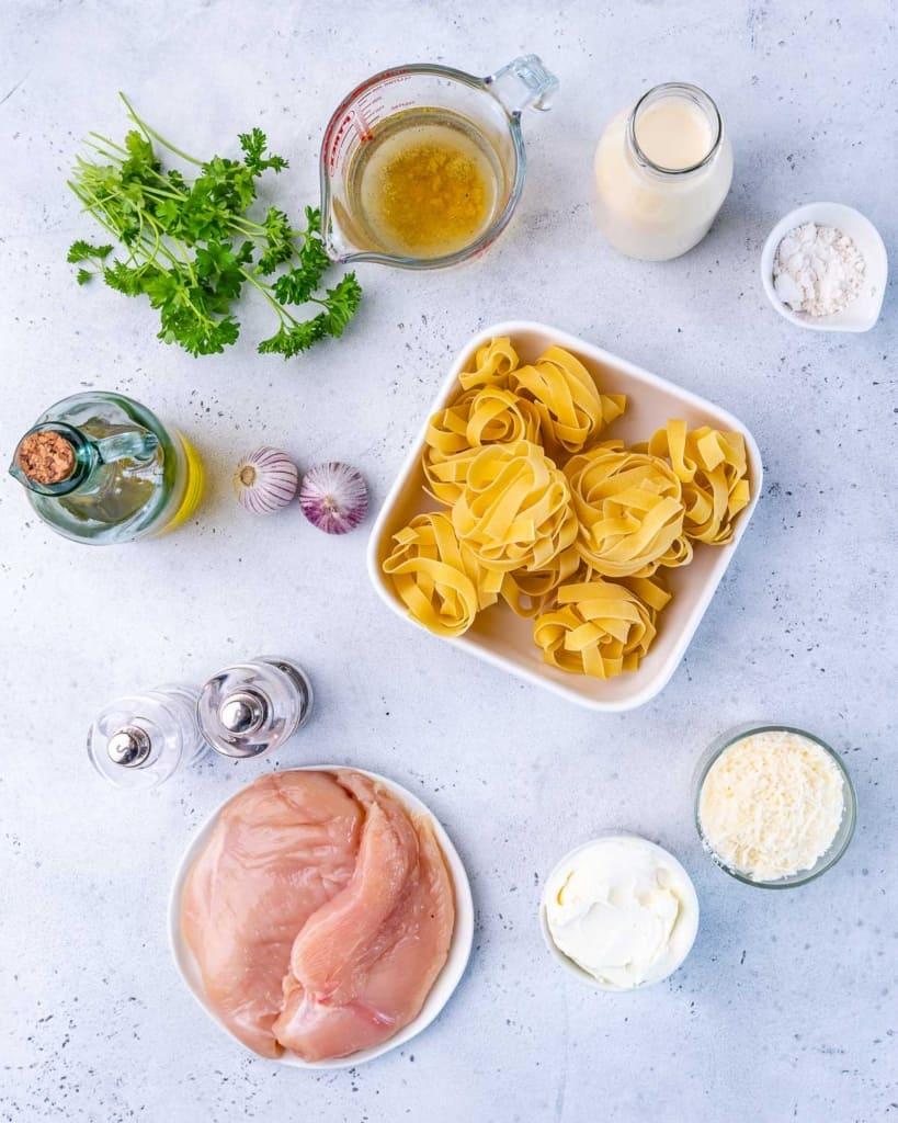 ingredients for chicken alfredo