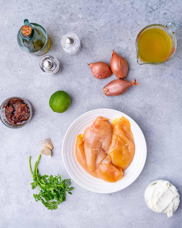 ingredients for chipotle chicken skillet