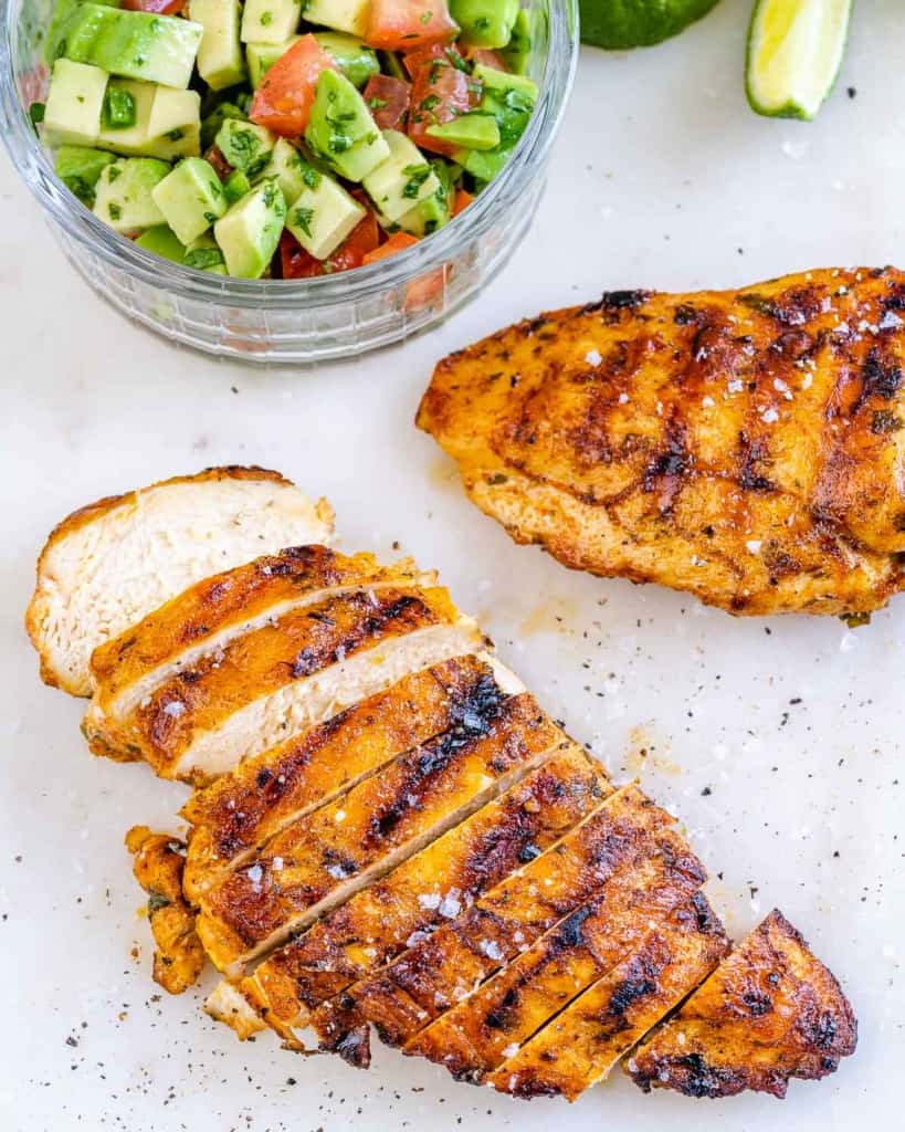 sliced grilled chicken breast