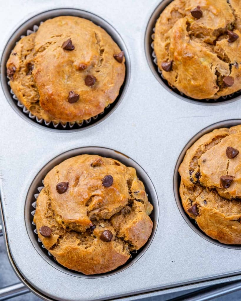 image of baked muffin in pan