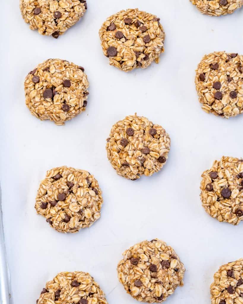 oatmeal cookies on a pan