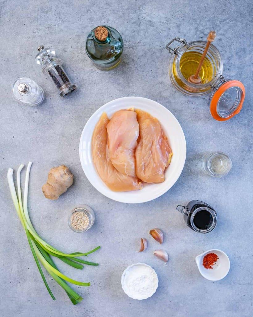 ingredients to make teriyaki chicken
