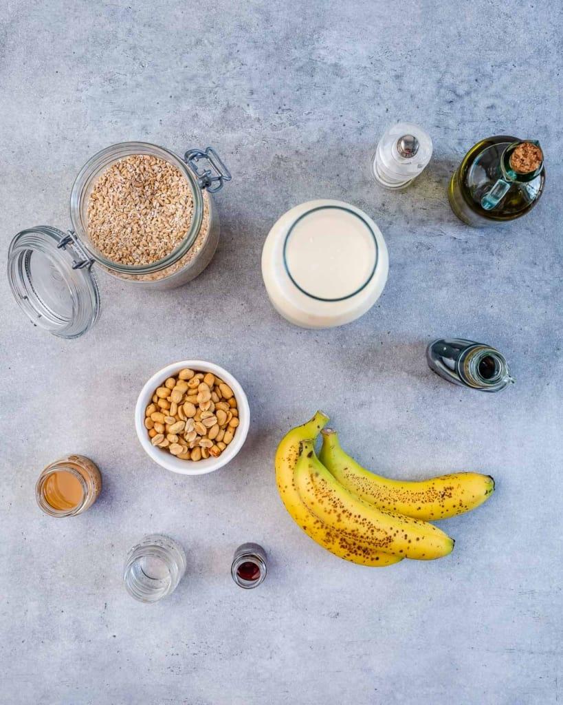 ingredients to make steel cut breakfast bowl