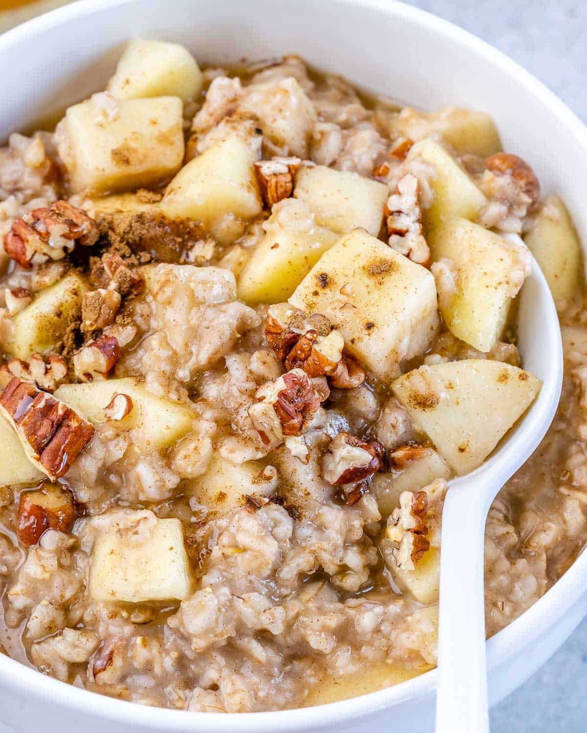 one bowl of oatmeal with spoon