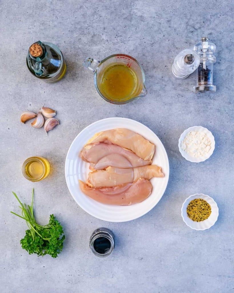 ingredients to make honey garlic chicken breast